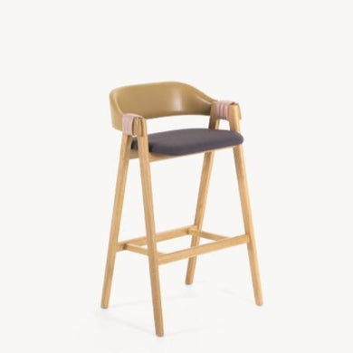 MATHILDA OAK BAR STOOL