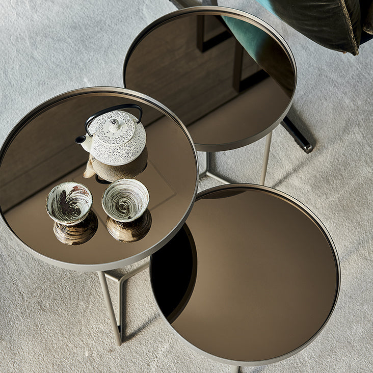 BILLY BRUSHED BRONZE TABLE (various options)