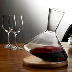 BALANCE WINE DECANTER WITH WOODEN BAE