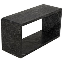 Load image into Gallery viewer, FOUNDATION SIDE TABLE LARGE, BLACK MARBLE