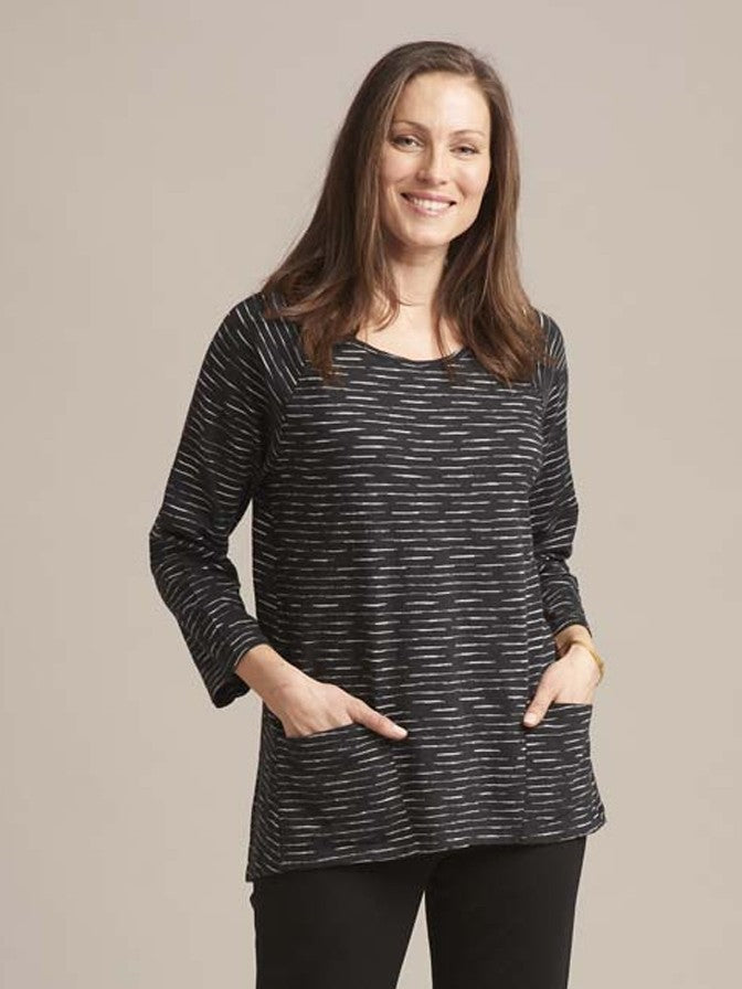Habitat Raglan Pocket Tunic in Black