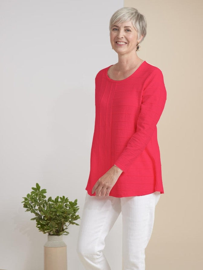 Habitat Pintuck Easy Tunic in Honeysuckle
