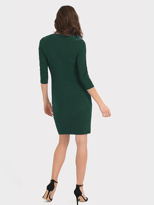 Joseph Ribkoff Emerald Green V Neck Dress
