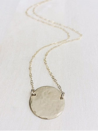Hello Adorn Supermoon Necklace in 14kt Gold
