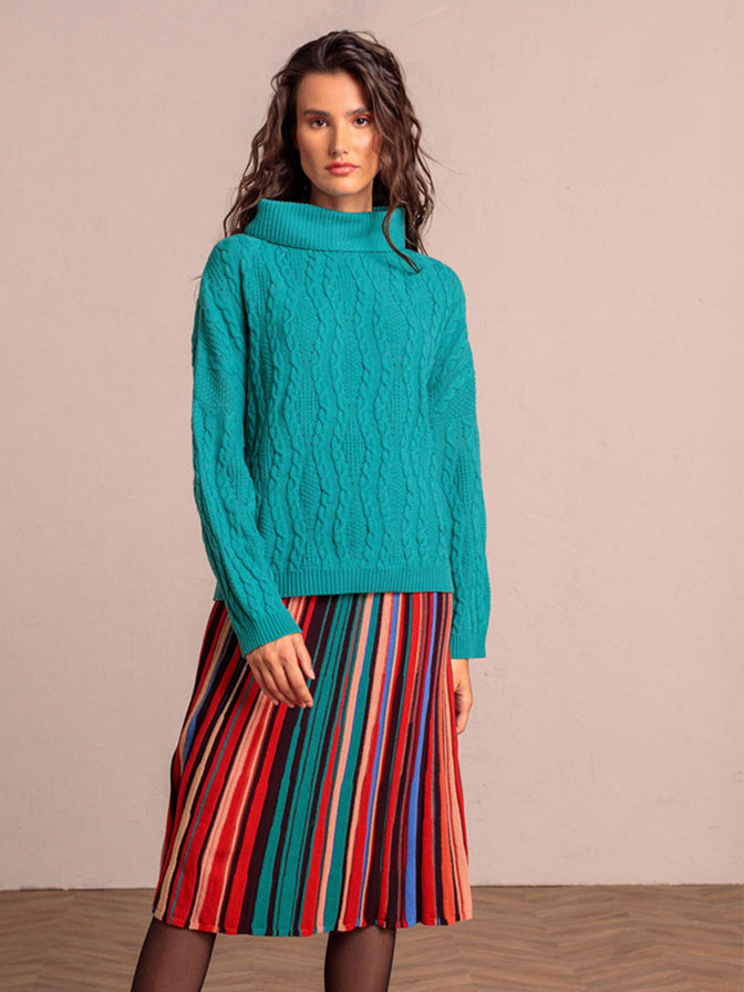 Ivko Roll Neck Pullover Blue