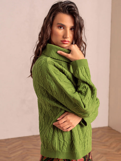 Ivko Roll Neck Pullover Green