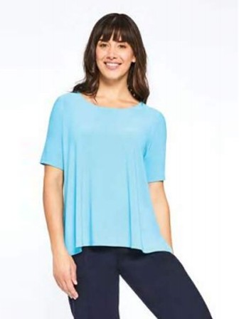 Sympli Go To Boxy Tee in Azure