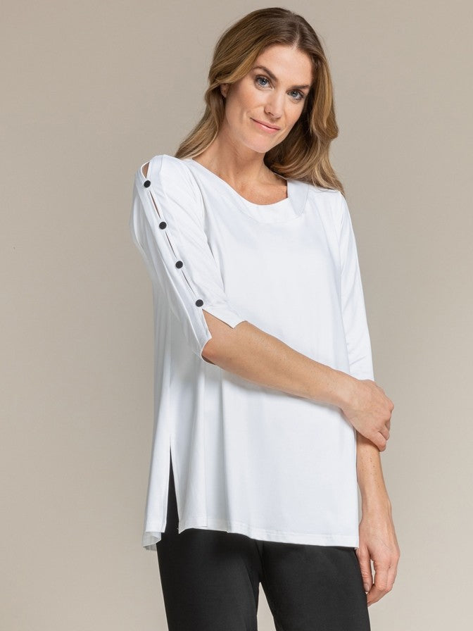 Sympli Icon Tunic in White