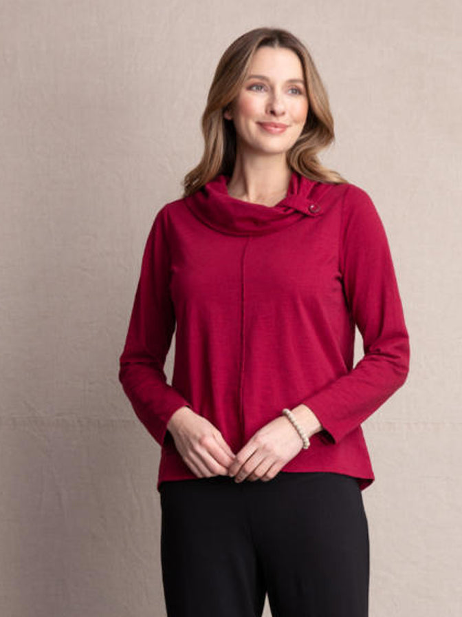 Habitat Button Cowl Tee
