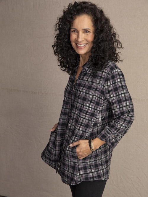 Habitat Plaid Hidden Pocket Tunic