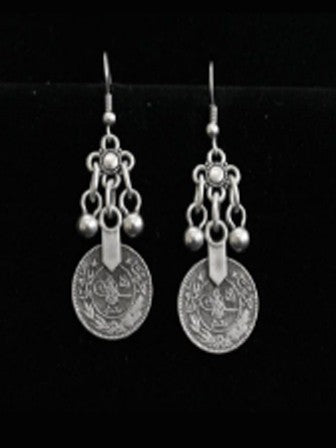 Chanour Pewter Coin Earrings