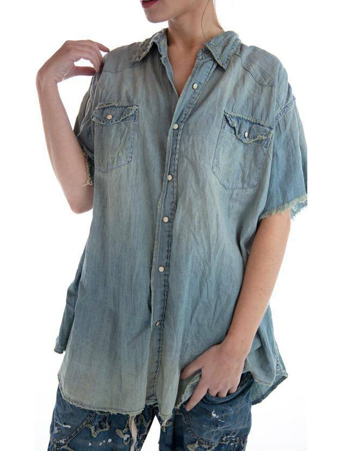 Magnolia Pearl Cotton Denim Marfa Workshirt