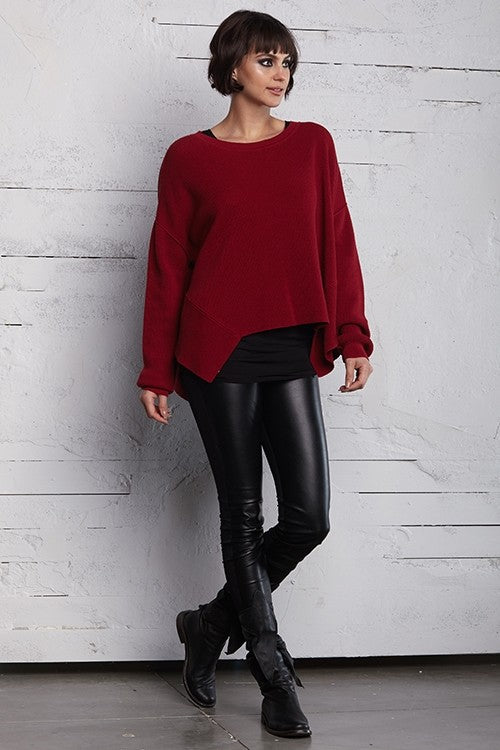 Planet Thermal Crew Sweater in Scarlet
