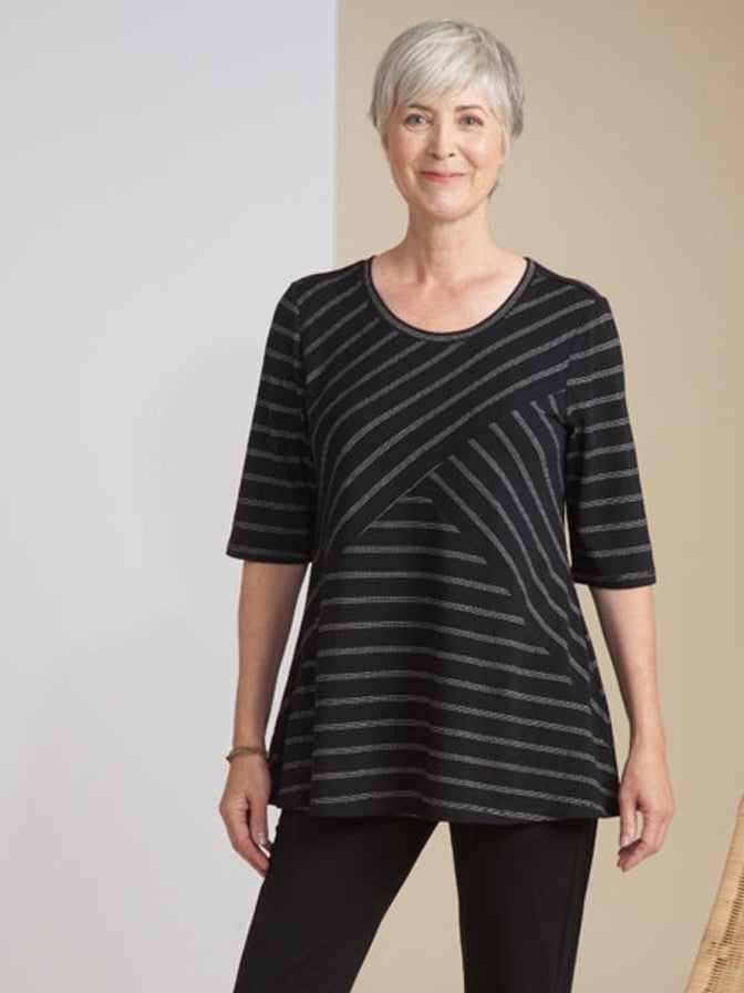 Habitat 3/4 Sleeve Stripe Top