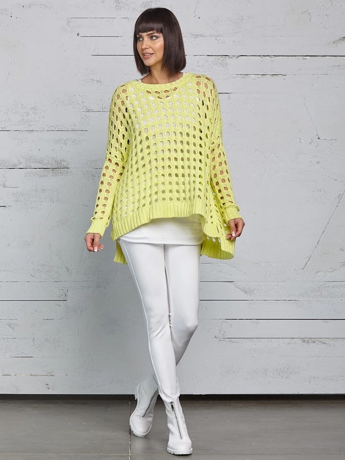 Planet Holy Crew Sweater in Citron