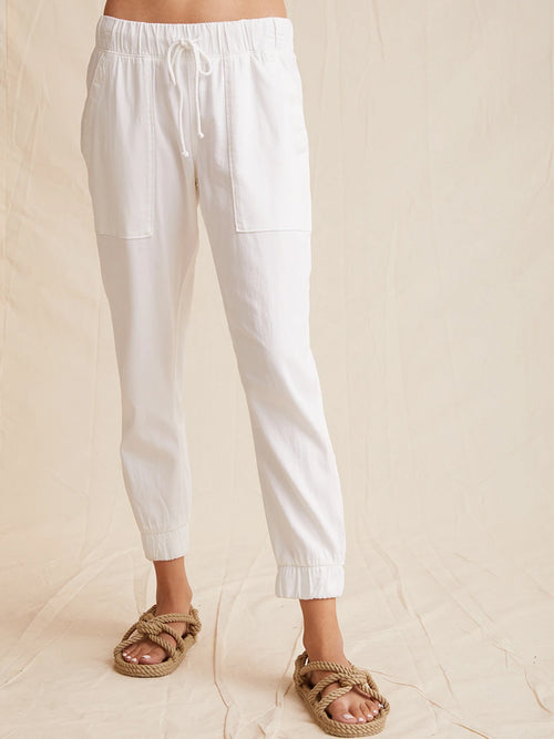 BELLA DAHL POCKET JOGGER WHITE