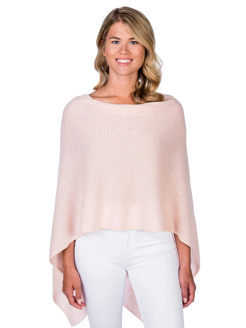 Alashan Cashmere Poncho in Blush