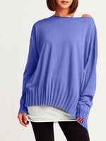 Planet Clothing Boatneck Rib Sweater