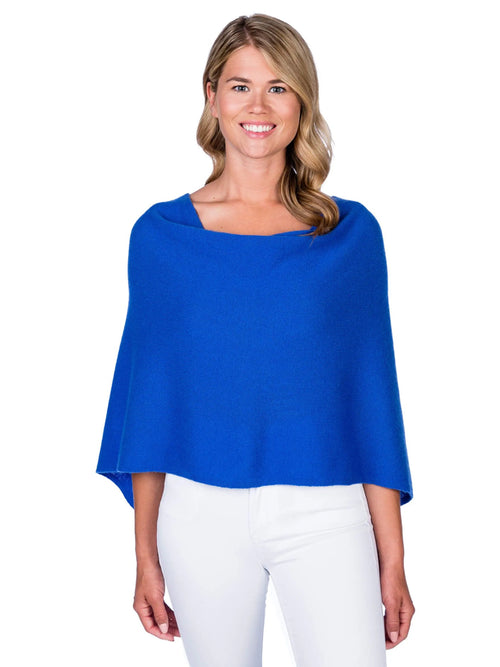 Alashan  Cotton/Cashmere Poncho in Cruise Blue