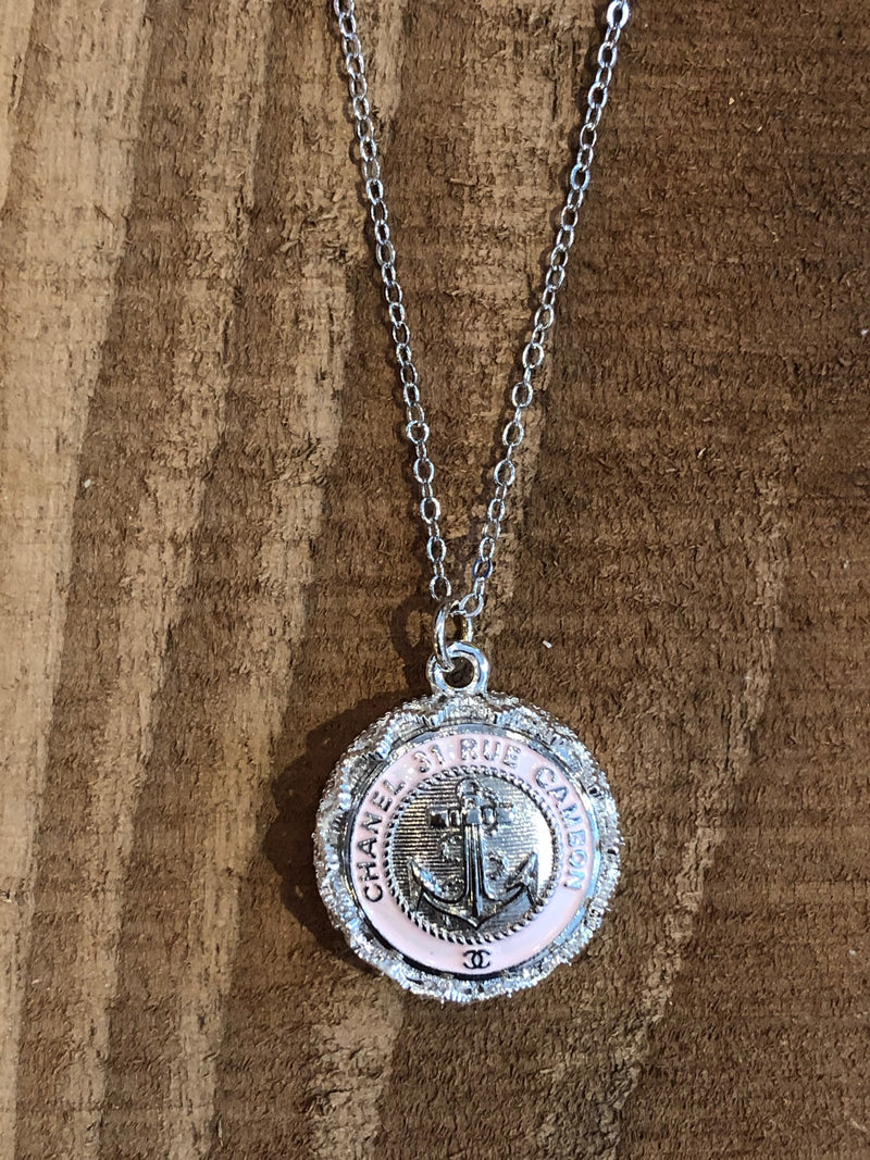 Julie Kreamer Chanel Button Necklace - Anchor