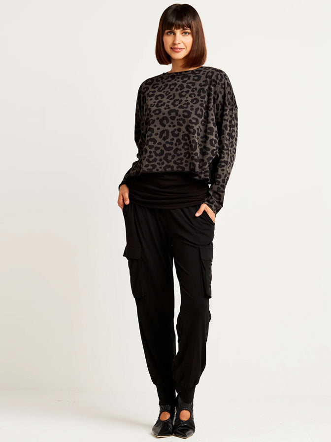 Planet Cropped Boxy T in Leopard Print