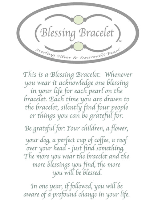 Blessing Bracelet in Platinum Murano Glass 12mm beads