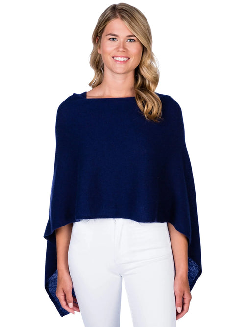 Alashan Cashmere Poncho in Midnight