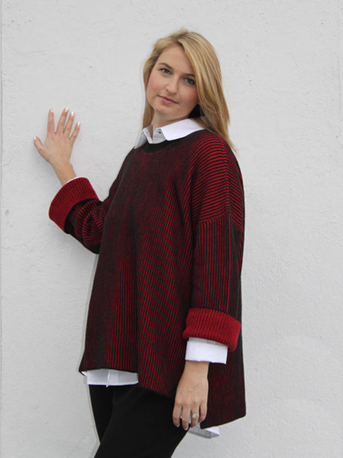 Iridium Reversible Heather Sweater