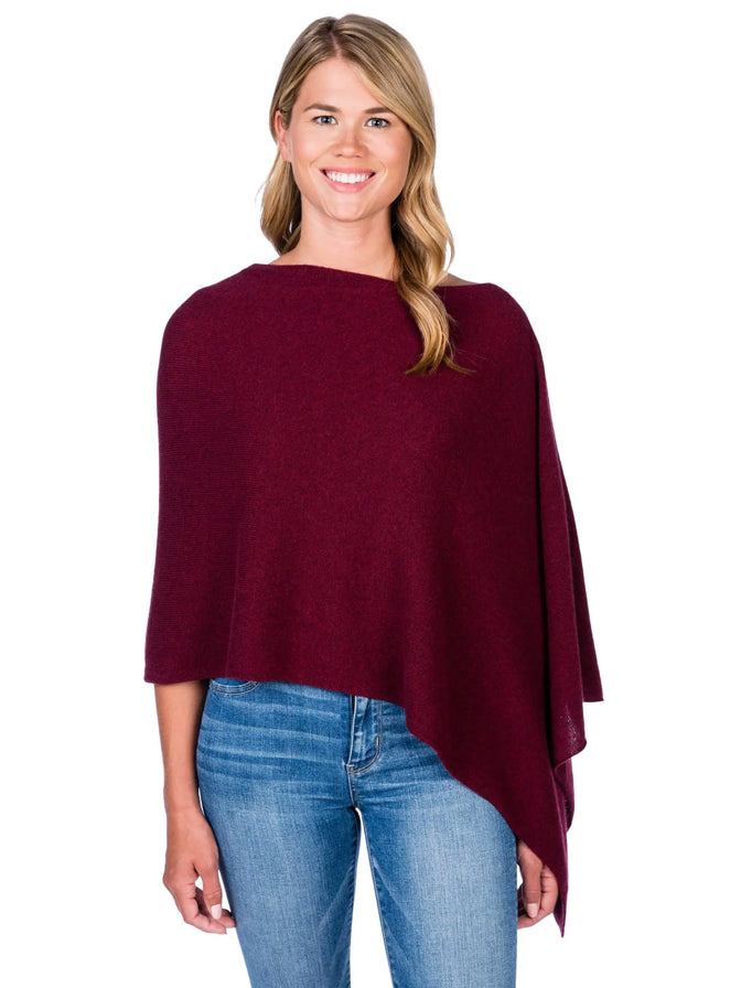 Alashan Cashmere Poncho in Paprika