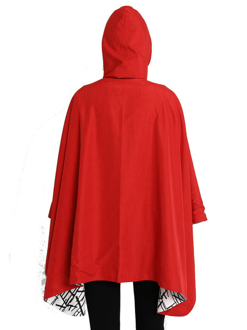 Winding River Waterproof Reversible Rain Cape - Red Sticks