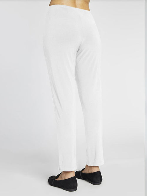 Sympli Lux Narrow Pant Midi White