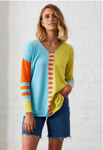 Zaket and Plover Vneck Fun Stripe Pullover - Backordered 3/25
