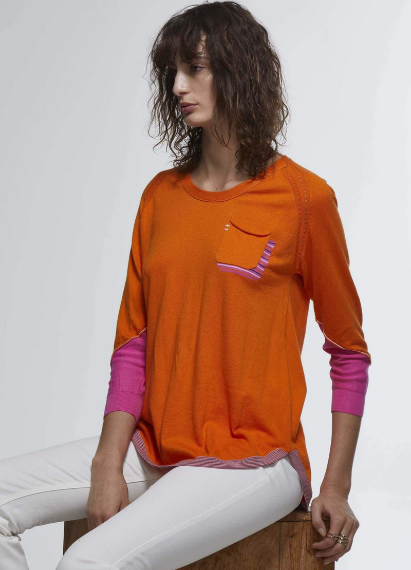 Zaket and Plover Pocket Detail Top