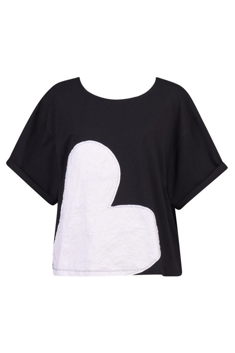 Alembika Jersey Cropped Applique Tee