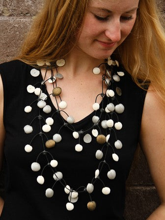 Annemieke Broinink Rubber Necklace Multi Metal Dot