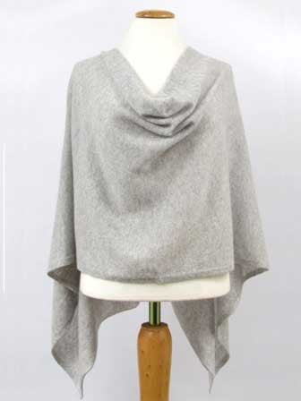 Alashan Cashmere Claudia Nicole Poncho in Ash