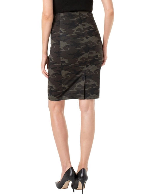 Liverpool Reese High Rise Camo Skirt