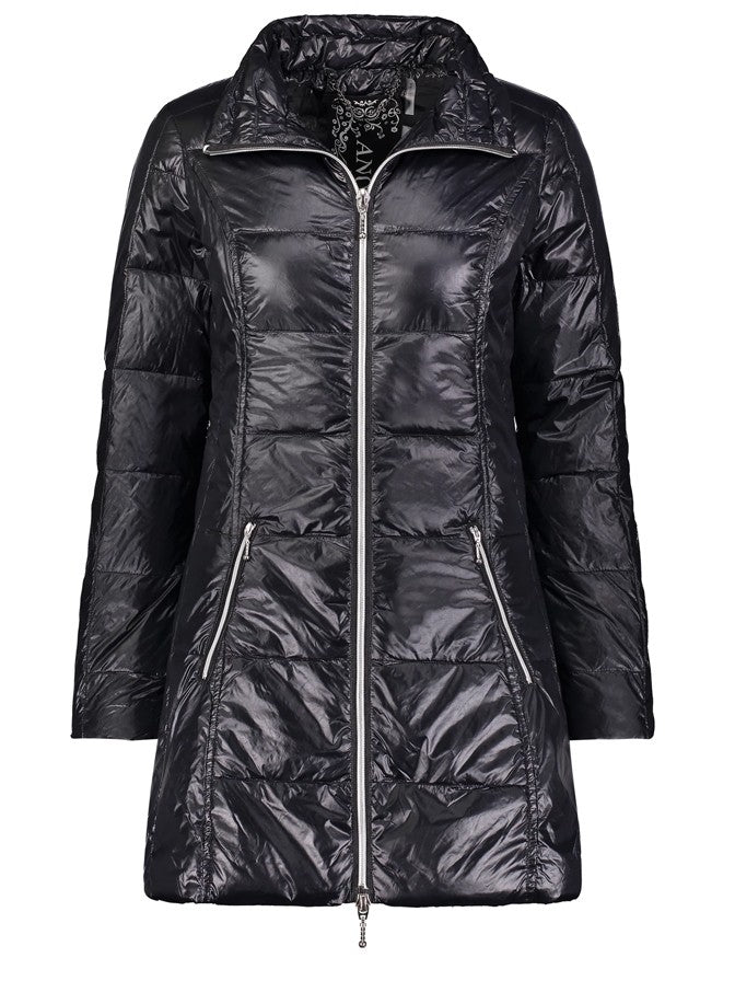 Anorak Puffer Coat in Black
