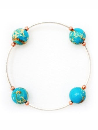 Blessing Bracelet in Blue Jasper