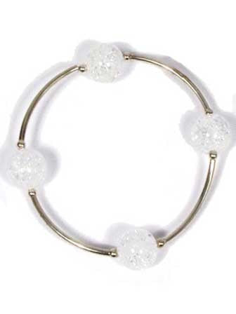 Blessing Bracelet in Snowflake Quartz 12mm beads