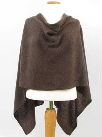 Alashan Cotton/Cashmere Poncho in Boar