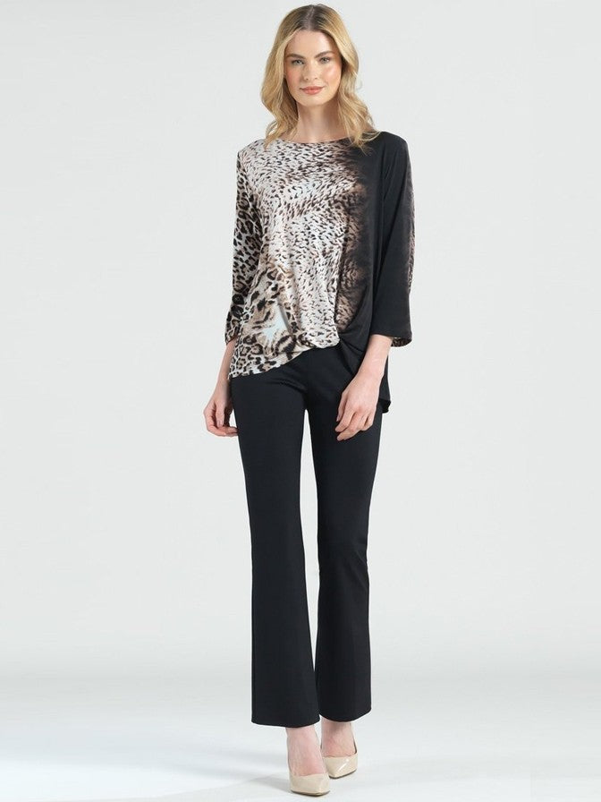 Clara Sun Woo Ombre Cheetah Twist Top