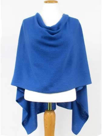 Alashan Cashmere Claudia Nicole Poncho in Cruise Blue