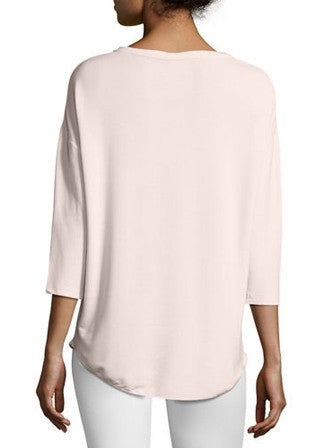 Majestic Filatures 3/4 Sleeve V-Neck Top