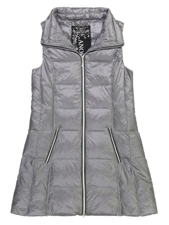 Anorak Nylon Down Vest Long