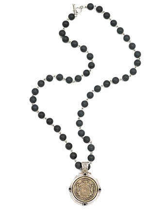 French Kande Cuvee Royal Medallion Necklace