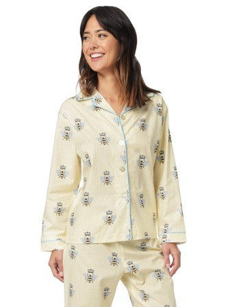 Cat's Pajamas Queen Bee Flannel PJ Set