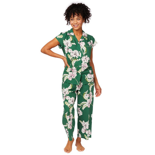 Cat's Pajamas Georgia Short Sleeve Capri Set