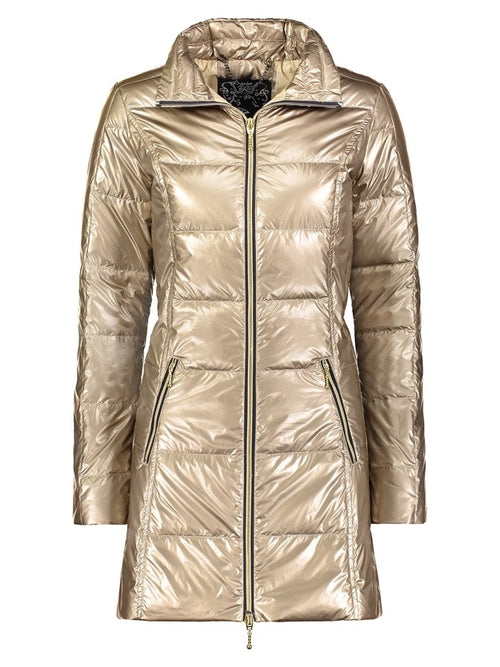 Anorak Puffer Coat in Metallic