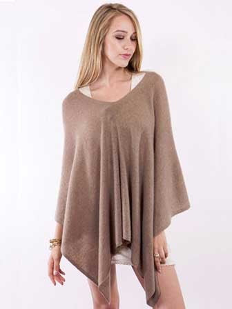 Alashan Cashmere Claudia Nicole Poncho in Natural
